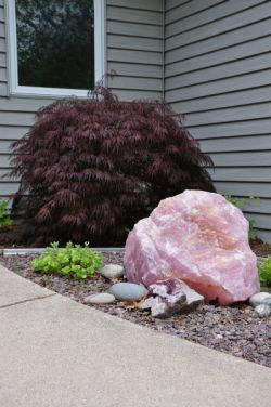 Rose Quartz, garden, accent, Greendale WI