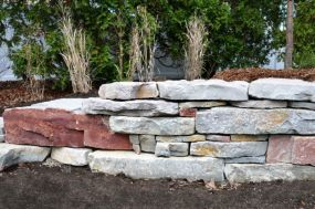 Dry stacked, Chilton stone, colorful, Bayside WI