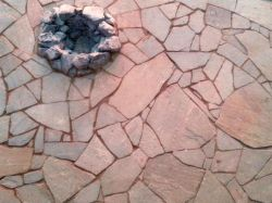 Full color bluestone, natural firepit, three Lakes WI