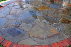 Full Color Irregular Bluestone Patio Grafton WI  2