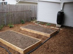Raised Garden Beds & Rain Barrel