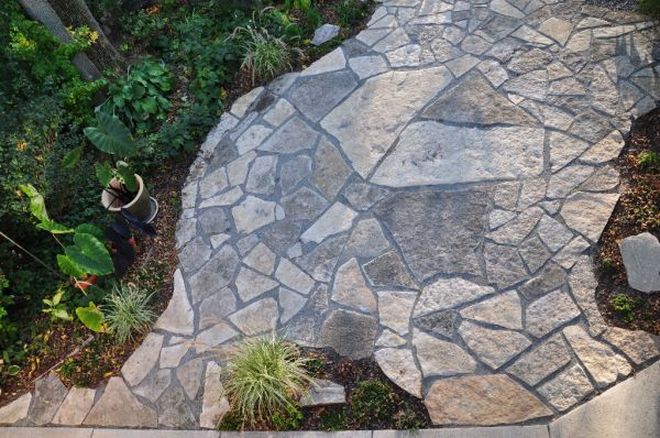 Bayside  WI   Natural Flagstone Patio 4