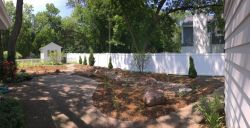 Rain garden panoramic view
