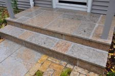 Rustic Gold Patterned Stoop Lannon Stone Cobble Accent Whitefish Bay WI  2