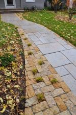 Rustic Gold Patterned Walkway Lannon Stone Cobble Accent Whitefish Bay WI