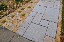 Rustic Gold Patterned Walkway Lannon Stone Cobble Accent Whitefish Bay WI  6