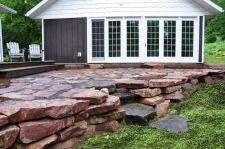 Wisconsin Granite Wall Patio Holcombe WI