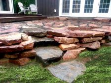 Wisconsin Granite Wall Patio Holcombe WI 2
