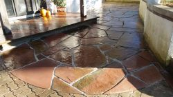 Bayside  WI   Colorado Red Irregular Flagstone Patio