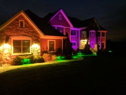 Caledonia WI FX Luminere Halloween Landscape Lighting