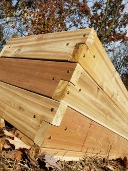 Cedar Raised Bed Custom Detail