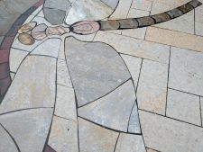 Delafield WI Dragonfly Stained Glass Bluestone Irregular Chilton Stone Rustic Gold Patterened Flagstone Quartzite Flagstone 3