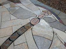 Delafield WI Dragonfly Stained Glass Bluestone Irregular Chilton Stone Rustic Gold Patterened Flagstone Quartzite Flagstone 4