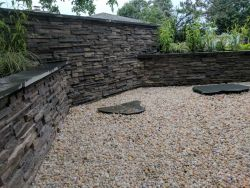 Dry Stack Masonry Walls Decorative Stone Japanese Garden