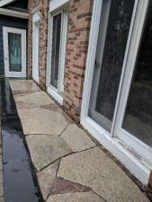 Menomonee Falls WI Stoop Flagstone Inlay Chilton Accents
