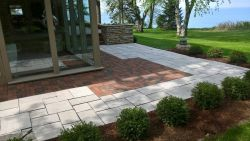Mequon WI Clay Brick Valders White Paver Patio Modern