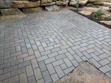 Mequon WI Permeable Patio Unilock Eco Priora Fancy Basket Weave