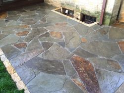 Shorewood WI Stained Glass Full Color Bluestone Patio