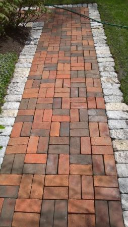 Clay Brick Powerwashed After