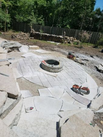 Lower Flagstone Patio Chilton Accents In Progress