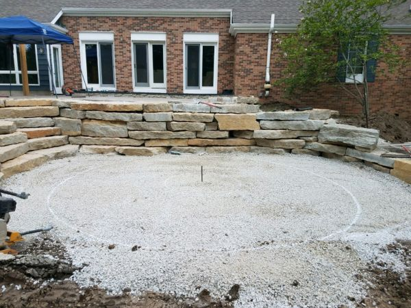 Lower Patio Fire Pit Unilock Layout2
