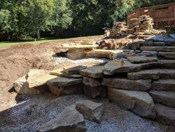 Natural Pilars Rock Caves Terraced Rain Garden