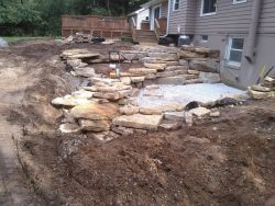 Outcropping In Progress Paver Base Installed