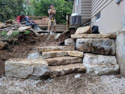 Outcropping Steps In Progress