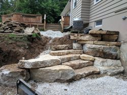 Outcropping Walls Natural Staircase Lemke Stone Products