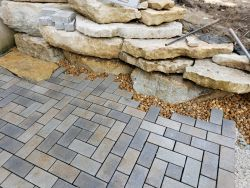 Permeable Patio Decorative Stone Installation