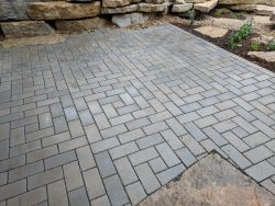 Permeable Patio Unilock Eco Priora Fancy Basket Weave