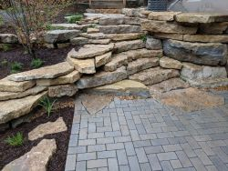 Stepper Inlay Contrasting Materials Permeable Patio