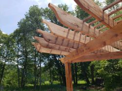 Three Post Cedar Pergola2