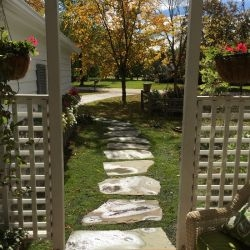 Bayside  WI   Stepper Pathway After   Irregular Bluestone Steppers