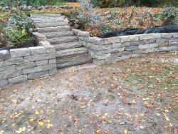 Grafton  WI   Chilton Retaining Wall   Steps